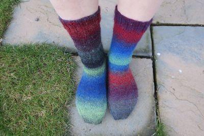 Knitted socks in Drops Delight (7)