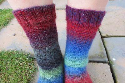 Knitted socks in Drops Delight (8)