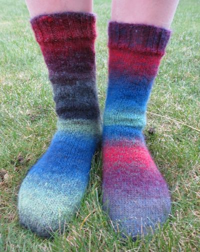 Knitted socks in Drops Delight (5)