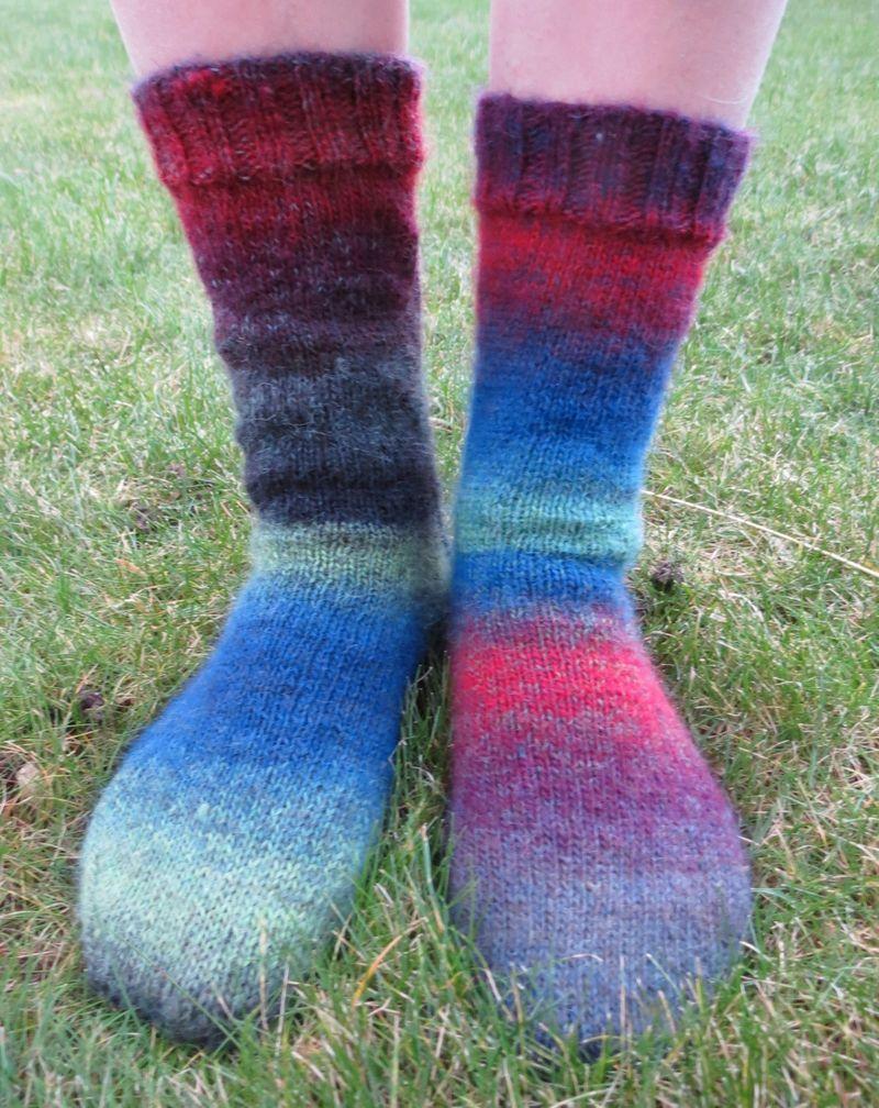 Knitted socks in Drops Delight (5)