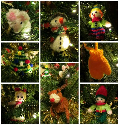 Knitted Christmas Tree Decorations