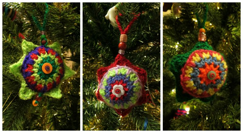 Crocheted Christmas Tree Decorations
