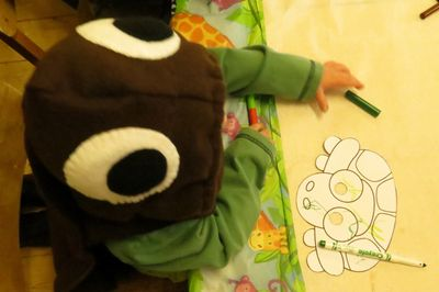 Tortoise or turtle costume  for a toddler (2)