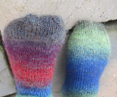 Knitted socks in Drops Delight (9)