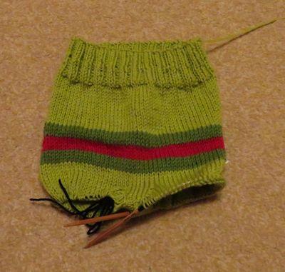 Monster bottom knitted trousers (7)