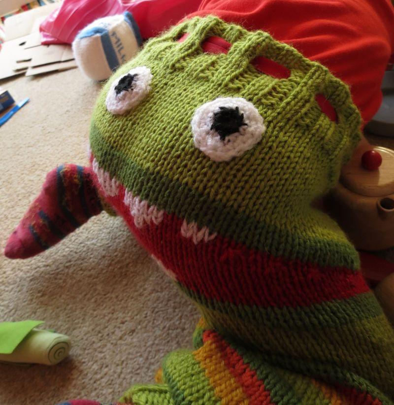 Monster bottom knitted trousers (3)